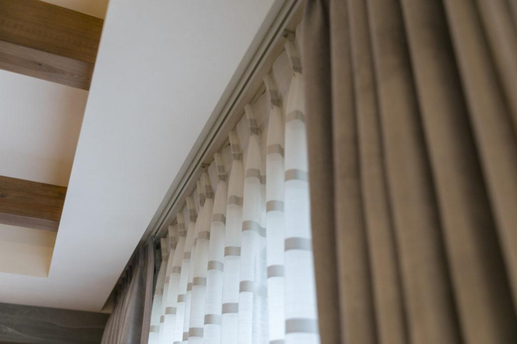 オーダーカーテン施工例1|新築|リビング|みよし市にある【ふとんの青木】東郷町・日進市 ・豊田市からも
