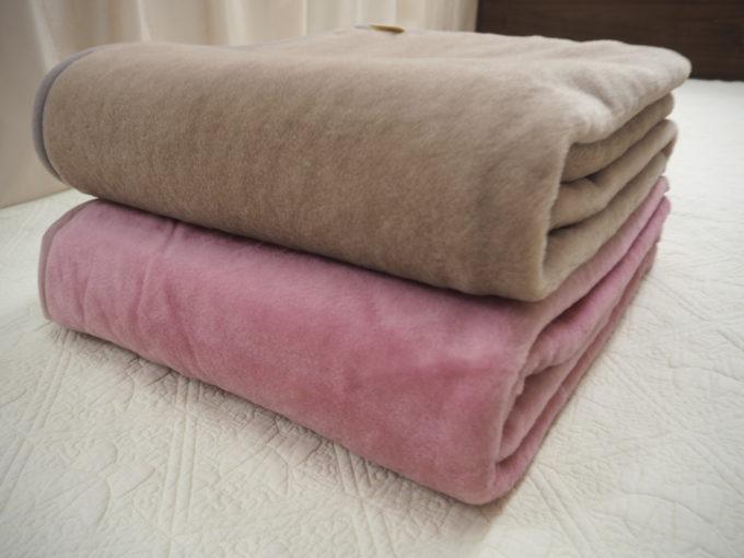 西川 家庭で洗えるウールマイヤー毛布